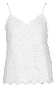 Witte top in broderie Y.A.S.