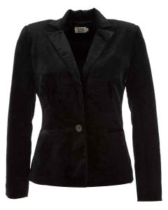 Zwarte Blazer in Velvet Molly Bracken