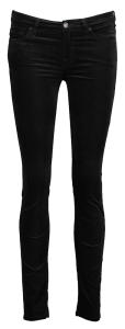 Zwarte Broek in Fluweel For All Mankind Model The Skinny: Super Skinny