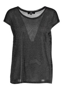 Zwarte Glanzende T-Shirt Just Eve