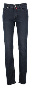 Zwarte Jeans Model Deauville Regular Fit Pierre Cardin