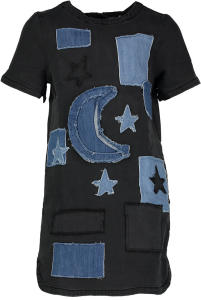 Zwarte Jeansjurk met Print Stella Mc Cartney