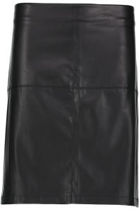 Zwarte Lederlook Rok Street One