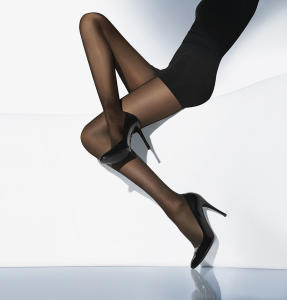 Zwarte Panty Wolford Synergy 40 Leg Support